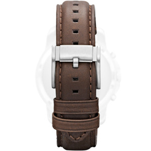 2ed43d522a82 Genuine Fossil Replacement Brown Leather Watch Strap FS4735