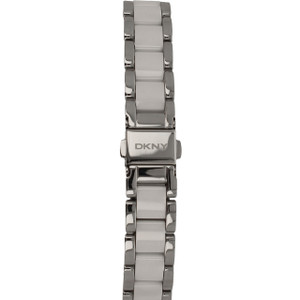 DKNY Replacement Silver and White Ceramic Bracelet For NY8139