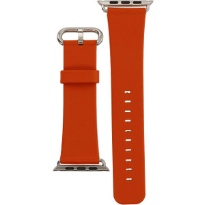 Apple Watch Replacement Strap Orange Leather 42mm