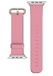 Apple Watch Replacement Leather Strap Pink With Classic Buckle 42 mm