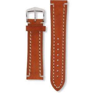 Hirsch Liberty Strap 22mm Golden Brown Genuine Textured Leather