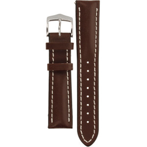Hirsch Heavy Calf Replacement Watch Strap Brown Genuine Untextured Leather 20mm