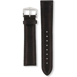 Hirsch Heavy Calf Replacement Watch Strap Black Genuine Untextured Leather 20mm