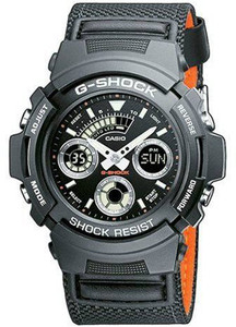 G-Shock Canvas Strap Analog And Digital Watch AW-591MS-1AER