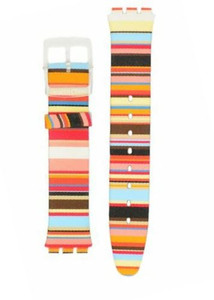 Swatch Watch Strap Mille Linie 16 mm for ASFK140 with Free Battery
