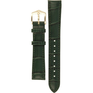 Hirsch Duke Replacement Watch Strap Green Alligator Embossed Leather 16mm