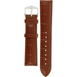 Hirsch Louisianalook Replacement Watch Strap Golden Brown Alligator Embossed Leather 20mm