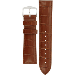 Hirsch Louisianalook Replacement Watch Strap Golden Brown Alligator Embossed Leather 22mm