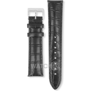 Hugo Boss Replacement Watch Strap Black Genuine Leather 22mm For HB.84.1.14.2184 and HB.241.1.14.2758 With Free Connecting Pins