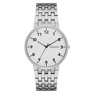 Skagen Men's Ancher Silver Steel Bracelet Watch SKW6200