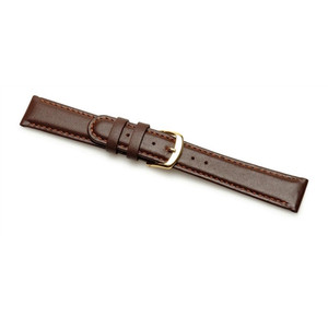Replacement 18mm XL Brown Padded Calf Leather Strap