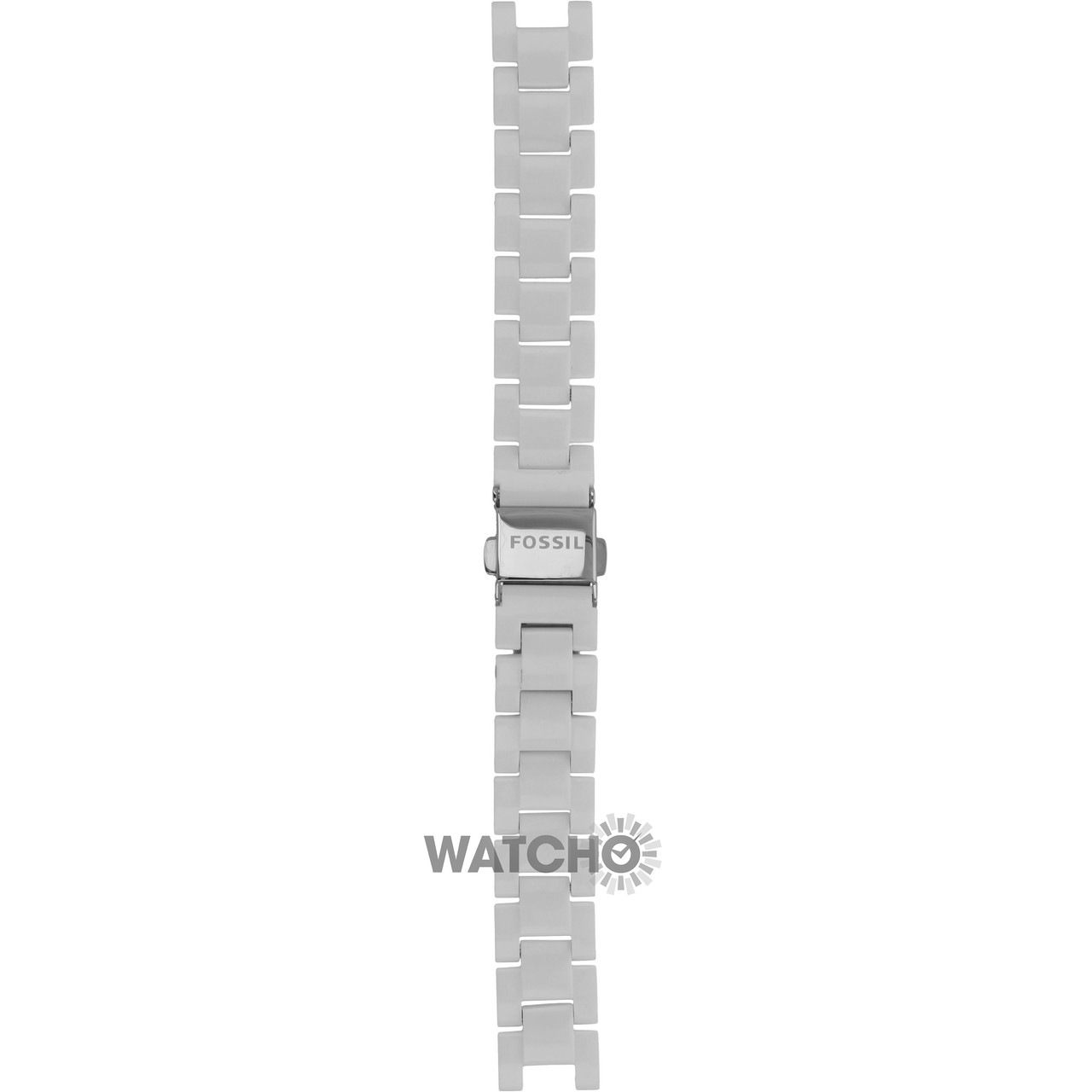 7298e8bc437d Fossil Replacement Watch Strap White Resin 7mm For ES2437