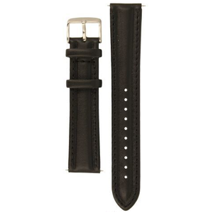 Mondaine Replacement Watch Strap 20mm Black Leather FE1832020QXL
