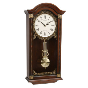 Rhythm Westminster Chime Wooden Arch Clock With Pendulum