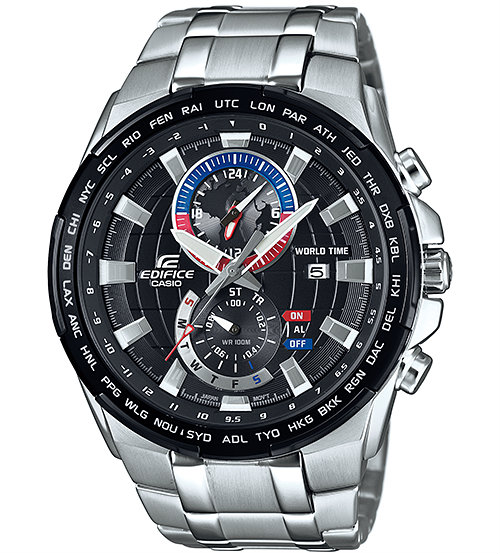 Casio Edifice EFR-550D-1AVUEF Racing Theme World Time Chronograph Watch 700be2a34fe