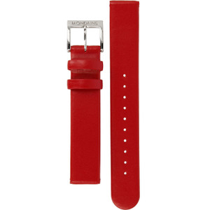 Mondaine Genuine Replacement Watch Strap Red Leather 16mm FE311630Q For Evo Watches
