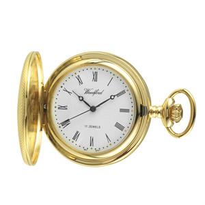 Woodford Skeleton Half Hunter Pocket Watch With Free Engraving 1056