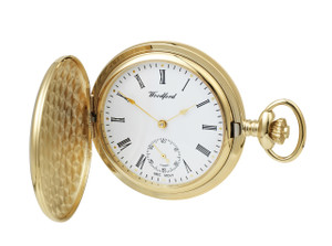 Woodford Mechanical Pocket Watch For Men Silver With Chain 1069 With Free Engraving