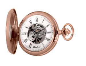 Woodford Skeleton Half Hunter Pocket Watch With Free Engraving 1092