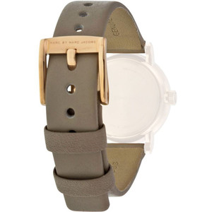Marc Jacobs Replacement Watch Strap Grey Leather 14mm For MBM1318