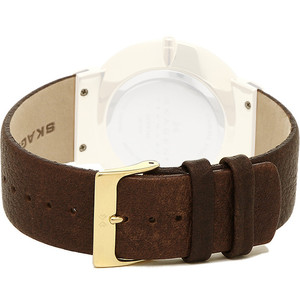 Skagen Replacement Watch Strap Brown Leather For SKW6142 With Screws