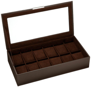 Wolf Stackable Watchbox For Up To 12 Watches In Brown