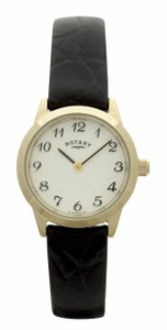 Rotary Ladies Gold Tone Brown Leather Strap Watch LSI00760