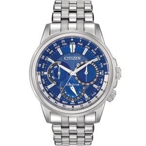 Citizen Mens Eco-Drive Calendrier Blue Dial Silver Watch BU2021-51L
