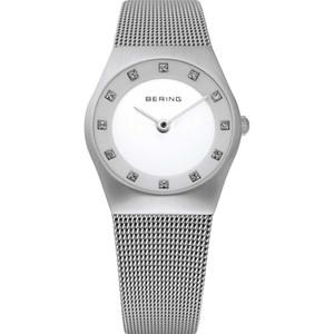 Bering Classic Ladies Ceramic Dial Swarovski Crystal Watch 11927-000