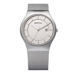 Bering Classic Mesh Bracelet Brushed Steel Watch 11938-000