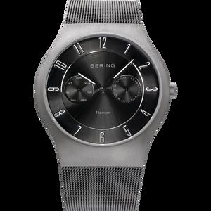 Bering Classic Black Dial Gunmetal Finish Titanium Watch 11939-077