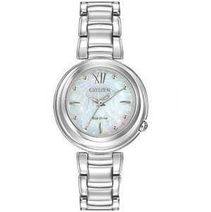 Citizen Eco-Drive Ladies L Sunrise Mother of Pearl Dial Watch EM0330-55D