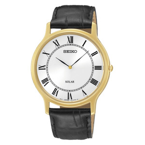 Seiko Solar Powered Classic White Dial Watch SUP878P1