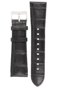 Storm Genuine Replacement Watch Strap Leather For Dualon Black With Pins