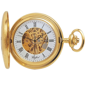 Pocket Watch Polished Sterling Silver Half Hunter Pocket Watches Woodford 1004 Watches, Parts & Accessories