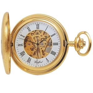 Woodford 17 Jewel Skeleton Half Hunter Pocket Watch With Free Engraving 1021