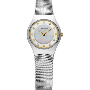 Bering Ladies Classic Mother Of Pearl Crystal Watch 11923-004