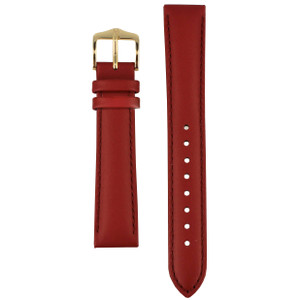 Hirsch Corse Replacement Watch Strap Red Genuine Leather