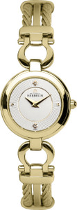 Michel Herbelin Ladies PVD Gold Plated Cable Watch 17422/BP11