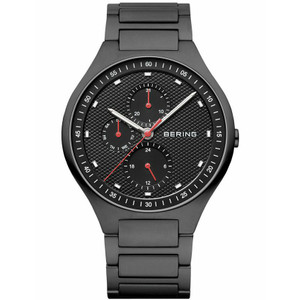 Bering Mens Titanium Black Classic Watch 11741-772