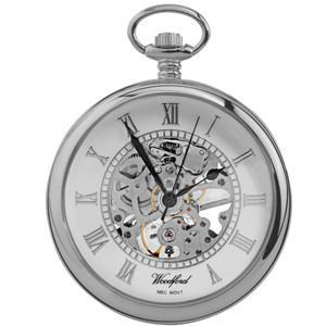 Woodford Skeleton Pocket Watch With Free Engraving 1084