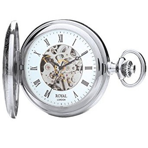 Royal London Half Hunter Mechanical Pocket Watch 90009-02