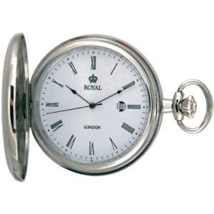 Royal London Full Hunter Silver Pocket Watch With Free Engraving 90001-01