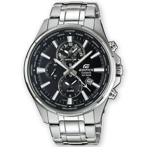 Casio Edifice Dual Display World Time Watch EFR-304D-1AVUEF