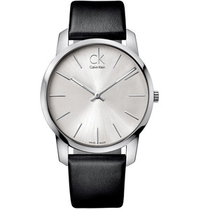 Calvin Klein Men's City Watch with Silver Dial K2G211C6