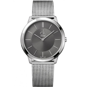 Calvin Klein Men's Minimal Grey Dial Watch K3M21124