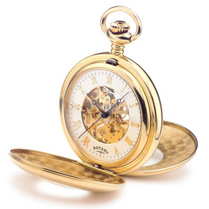 Rotary Gold Plated Mechanical Pocket Watch MP00713/01