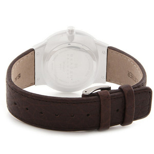 Skagen Genuine Replacement Brown Leather Strap For 331XLSL1 With Free Screws