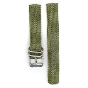 Seiko Replacement Strap Olive Green Nylon 18mm 4K11JZ With Free Pins