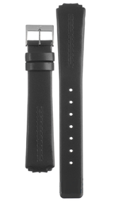 Skagen Replacement Black Leather Watch Strap for 433SSLC and 433SSLB with Free Connecting Screws